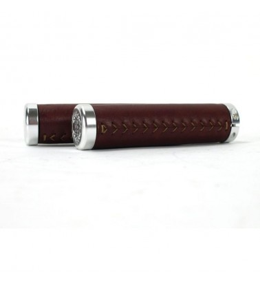 Poignées VO Lock-on Leather Grips